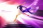 跳舞美女海报