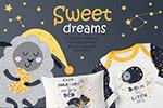 卡通甜美的梦插画