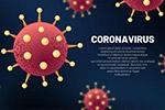 新冠状病毒插画