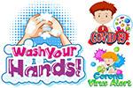 儿童防疫插画
