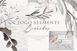 优雅植物Logo元素