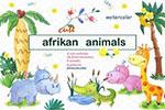 水彩非洲动物植物