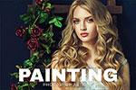 手绘油画质感PS动作