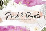 桃紫色水彩背景纹理