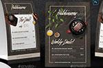 立式餐厅饭店菜单