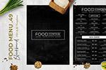 黑板画风西餐厅菜单