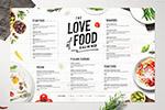 食物菜单模板
