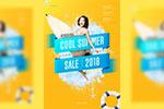 夏季促销创意海报