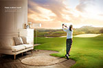 高尔夫球创意海报