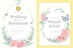 花卉水彩婚礼请柬模板