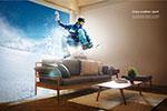 滑雪运动创意海报