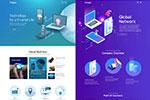 科技网络网页模板