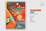 复古夏季海滩海报