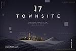 现代城市豪宅海报