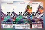 城市抽象风格夜店海报