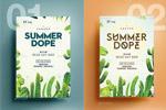 热带植物夏天海报
