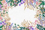 手绘水彩植物边框