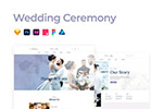 婚礼主题网页模板