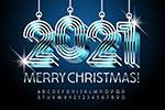 2021圣诞新年字体