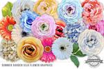 夏季花卉图形