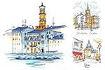 手绘风城市插画