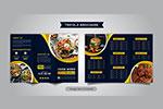 三折页效果餐厅菜单