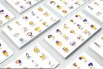 紫黄色系商业图标