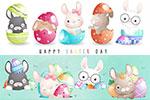 卡通复活节兔子矢量