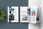 旅行杂志ID模板
