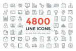 4800个线型图标