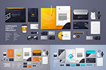 多种物品企业视觉元素