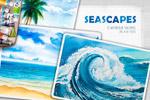海景水彩插图