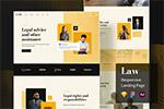 法律网站着陆页模板