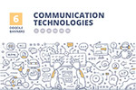 5G通讯技术涂鸦插画