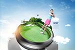 高尔夫主题海报