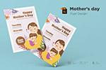 卡通母亲节宣传单