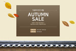 秋季风格网页广告