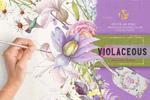 紫罗兰色水彩花卉