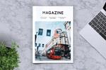 简约旅游杂志模板