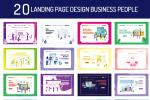 商务人物网页模板