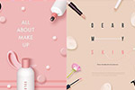 韩国化妆品海报