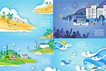 夏季旅游度假插画