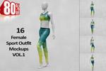 女性运动服饰样机