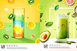 6款饮料果汁海报