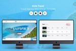 清新旅游网站模板
