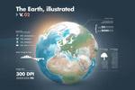 地球仪插画