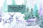 圣诞奇幻森林插画