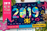 2019新年贺卡日历