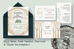 树木婚礼邀请函