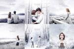 冬季雪景美女海报